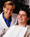 Young guy in dental chair